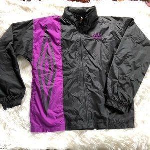 Vintage Umbro purple black windbreaker jacket